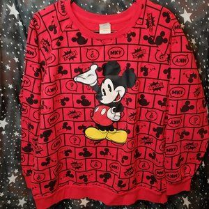 Mickey Mouse Red Pullover Sweatshirt Junior XXL